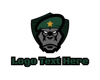 Leader - Primate Commander logo design