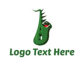 Creature - Monster Saxophone logo design