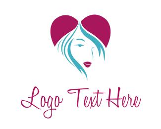 Lips - Heart Girl logo design