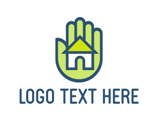 Hand - Hand & House logo design