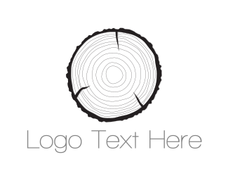 Log - Wood Texture logo design