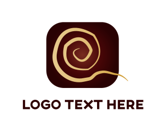 Curly - Golden Swirl logo design