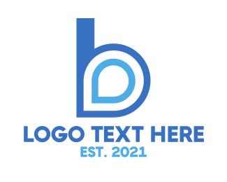 Gprs - Blue B Pin logo design