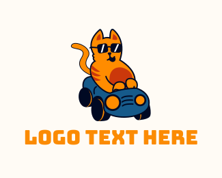 Illustration - Cool Cat Driver logo design