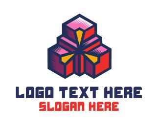 Geometric - Geometric Boxes logo design