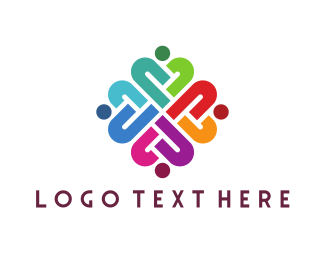 Group - Colorful Human Group logo design