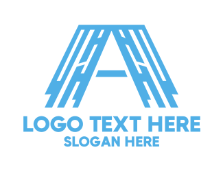 Professional Service - Industrial Blue Letter A logo design