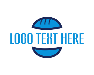 Cheese - Blue Burger Bun logo design
