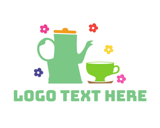 Tea - Floral Tea logo design