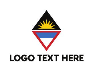 Caribbean - Antigua & Barbuda Symbol logo design