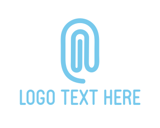 Workday - Blue Paper Clip logo design