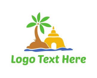 Coconut - Ancient Shrine  logo design