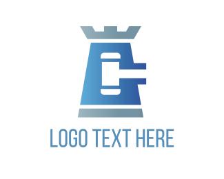 Hammer - Law Tower logo design