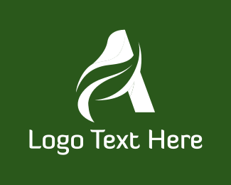 Leaf - Leaf Letter A logo design