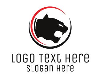 Puma - Big Cat Circle logo design