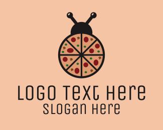 Pizzeria - Pizza Bug logo design