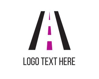 Running - Black Road logo design