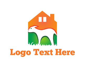 Farm Animal - Sheep  Farm logo design