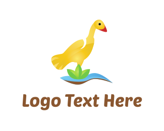 Land - Yellow Duck logo design