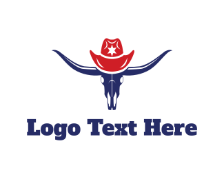 Rodeo - Bull Hat logo design