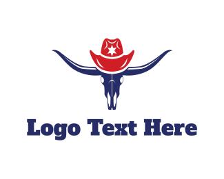 Cowboy - Bull Hat logo design