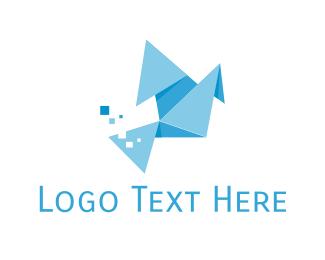 Ad Agency - Origami Bird logo design