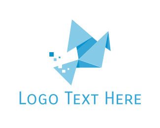 Web Developer - Origami Bird logo design