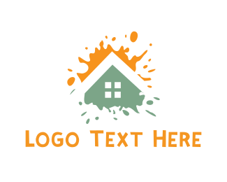Roofing - House Paint logo design