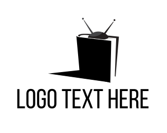 Documentary - B&W TV Book logo design