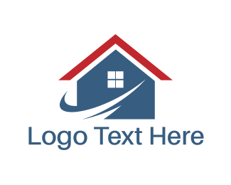 Architecture - Blue House logo design