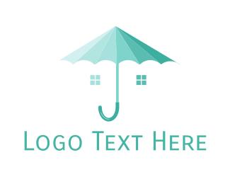 Shelter - Umbrella Shelter logo design