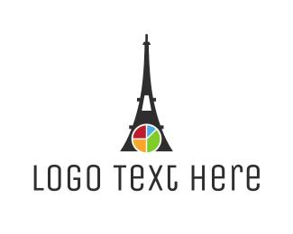 Eiffel Tower - Eiffel Chart logo design