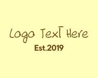 Bed And Breakfast - Rough Brown Text logo design