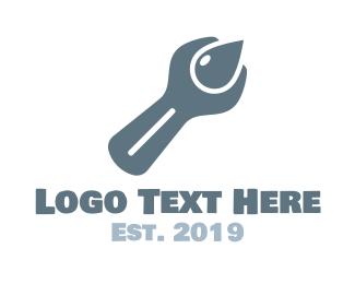 Oil - Drop Fix logo design