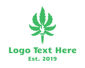 Torch - Cannabis Torch logo design