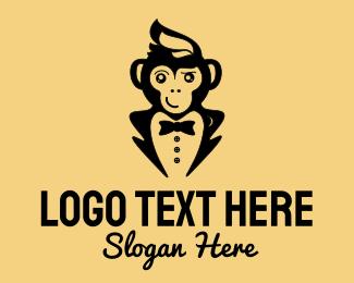 Tuxedo - Monkey Tuxedo logo design