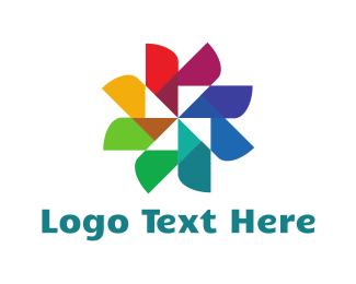 Creative Services - Flower Palette logo design