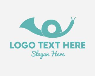 Trumpet - Snail Speaker logo design