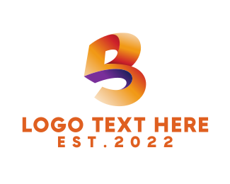 Letter - Abstract Letter B logo design