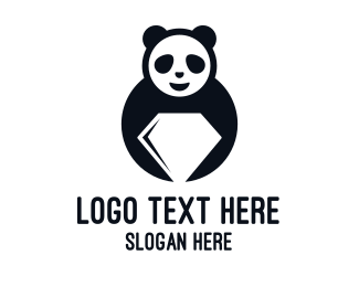 Panda - Diamond Panda logo design