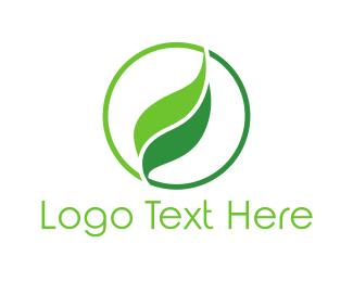 Salad - Leaf Circle logo design