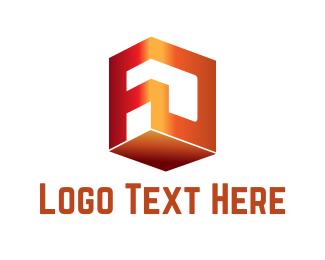Letter F - F & D logo design