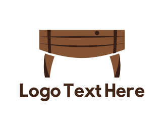 Brewery - Barrel Table logo design