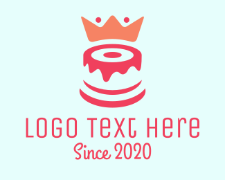 Pastry - Red Cake King logo design