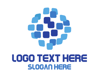 World - Pixel World logo design