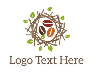 Coffee Shop - Nest Coffee Beans logo design
