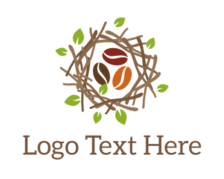 Coffee - Nest Coffee Beans logo design