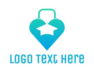 Graduation - Heart Bag Graduation logo design