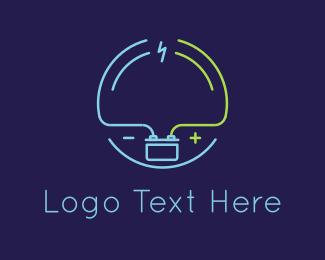 Volt - Thunder & Battery logo design