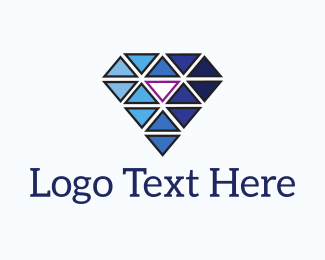 Jeweler - Abstract Diamond Triangles logo design